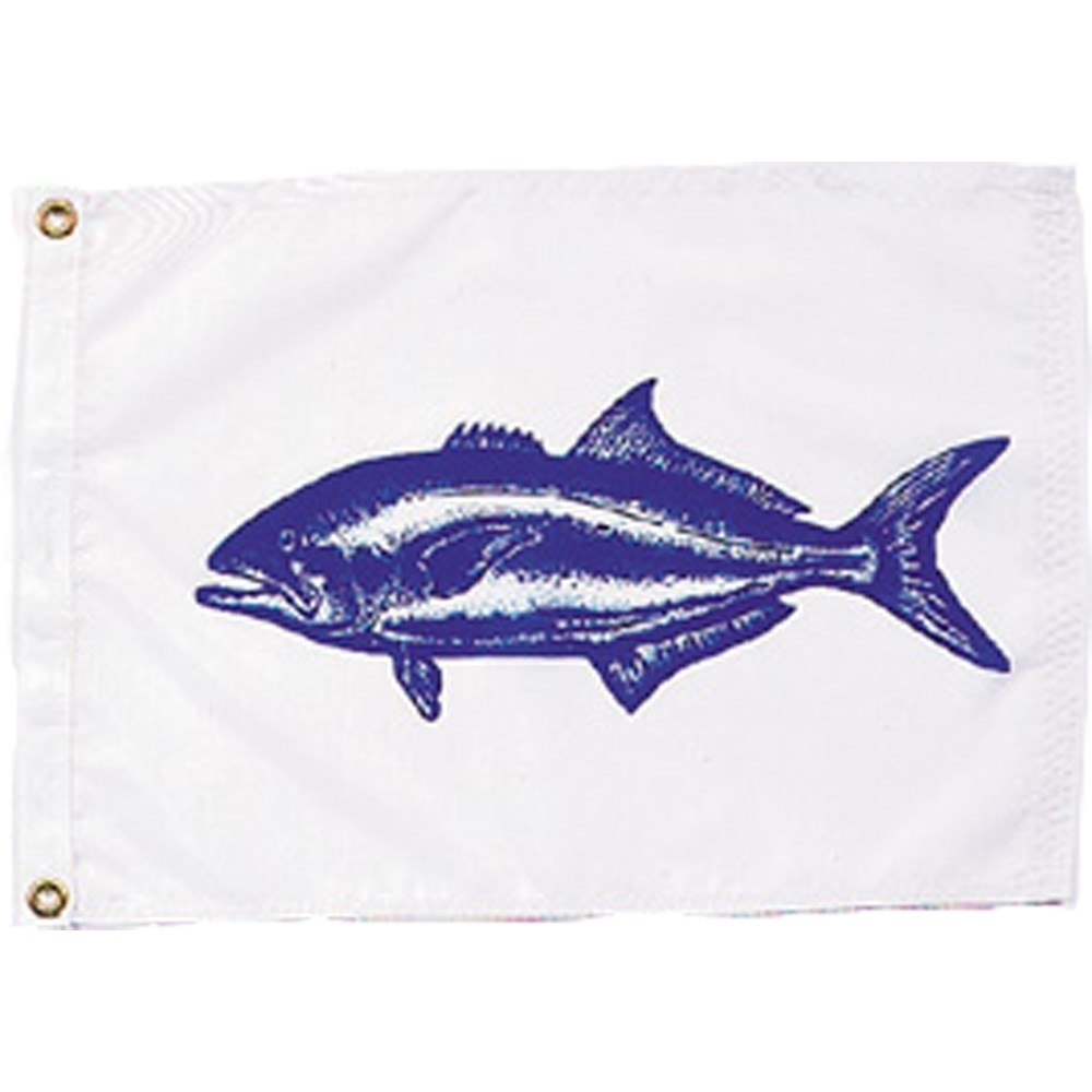 Blue fish flag for American flag fish