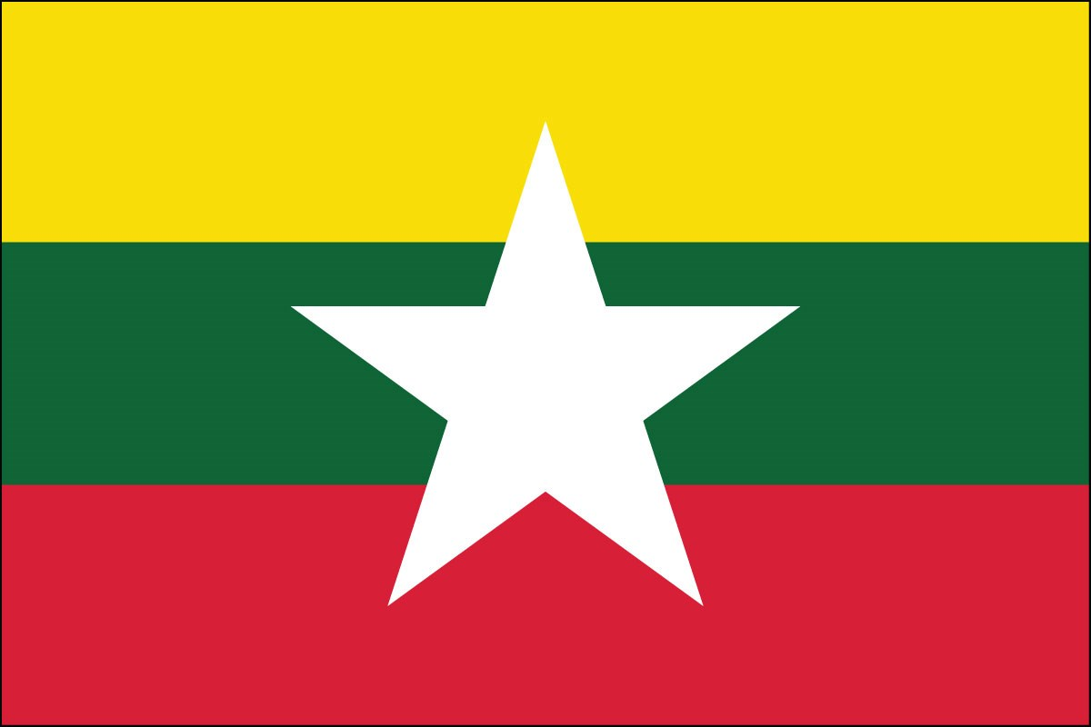 burma flag Myanmar