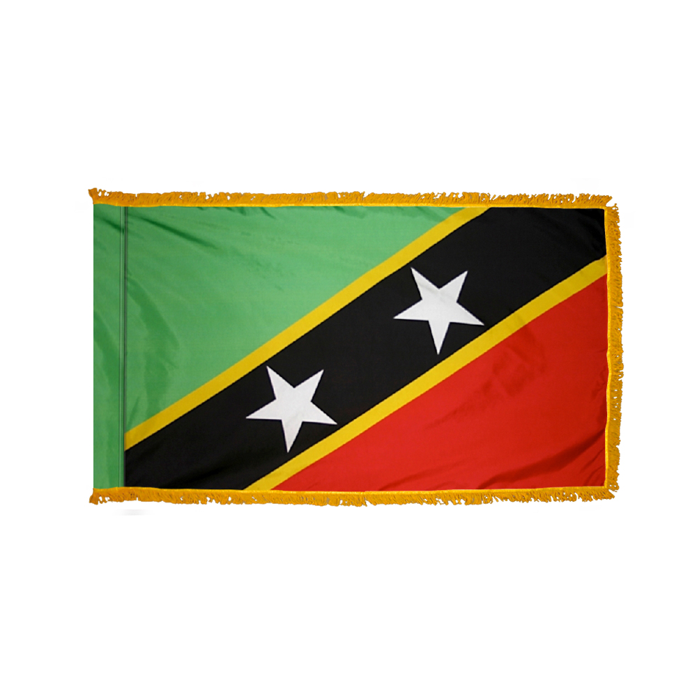Who Flies To St Kitts: St. Kitts Nevis Flag 3 X 5 Ft. Indoor Display Flag With