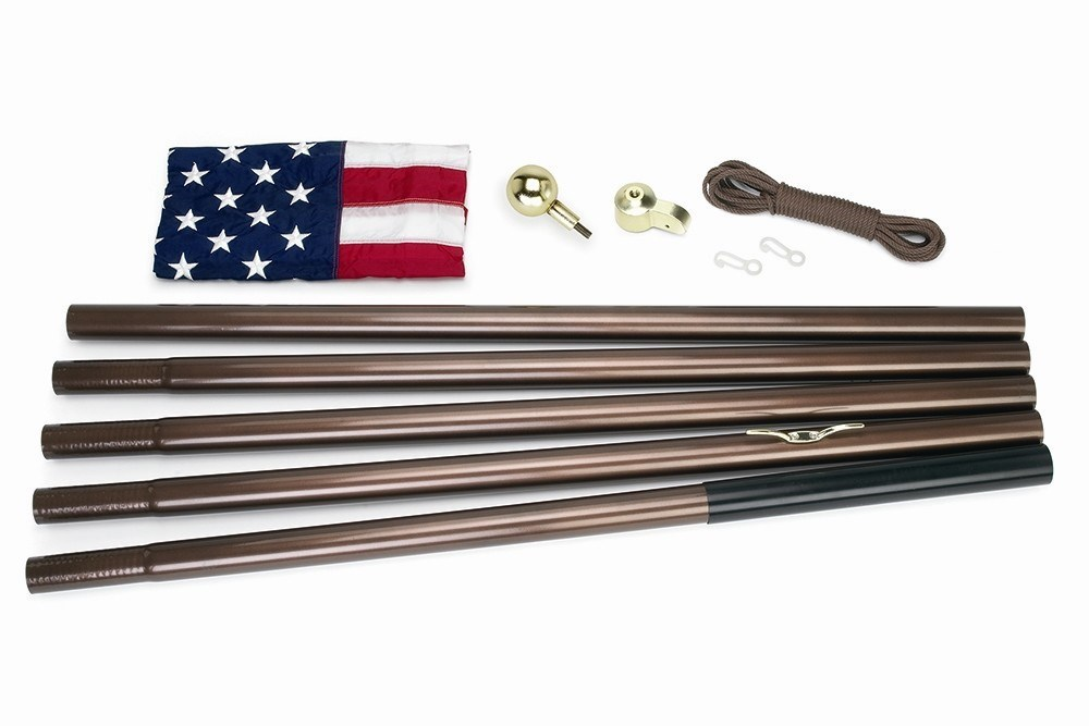18ft U S Flagpole Kit Bronze