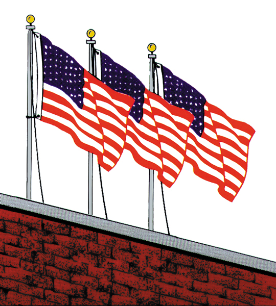 9ft Roof Mount Aluminum Flagpole Set