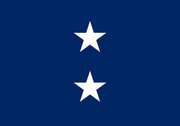 Navy 2 Star Admiral Flag W Grommets