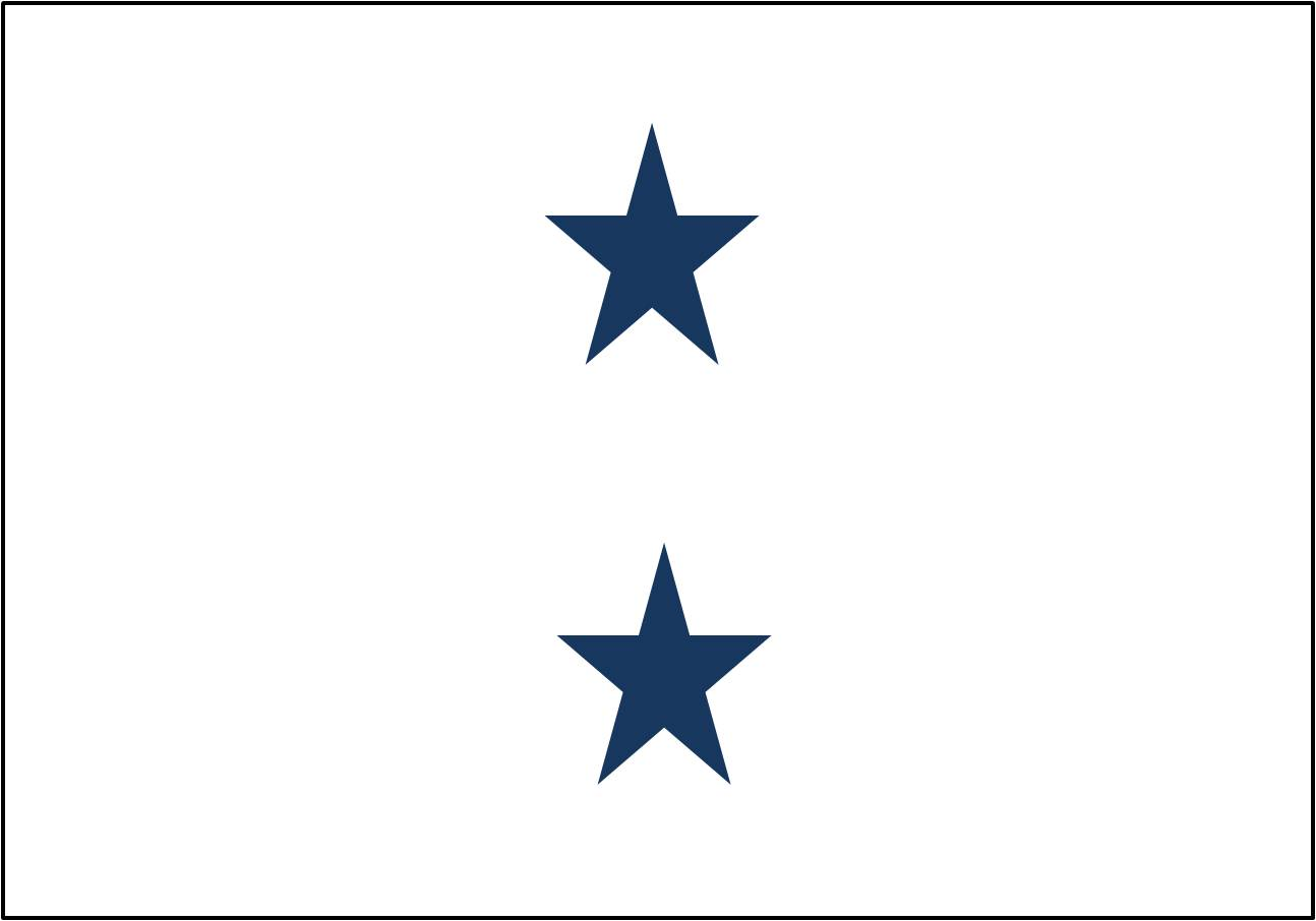 Navy 2 Star Admiral Flag Non Seagoing W Grommets