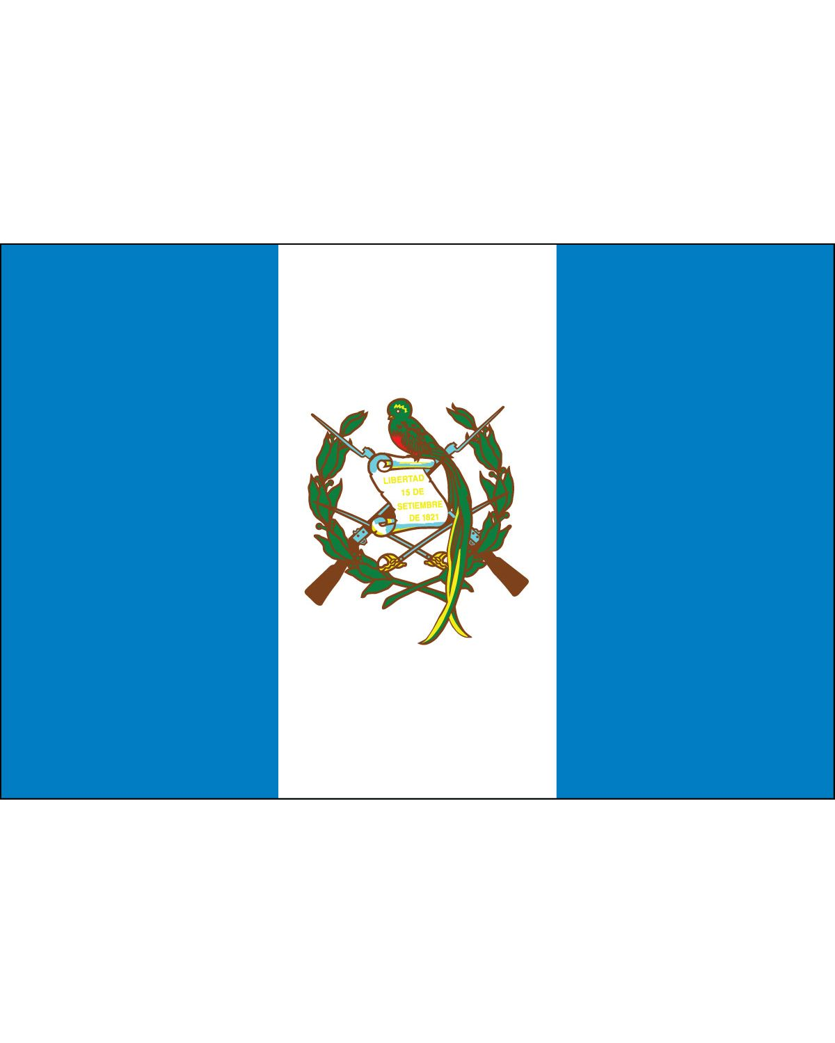 Guatemala Flag 3ft X 5ft E Poly For Outdoor Use