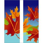Fall Leaves -Blue Double Banner