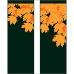 Fall Leaves, Green Double Banner