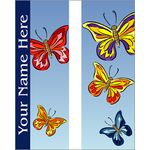 Colorful Butterflies Banner Double