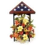 Burial Flag Display Stand Black Wood Finish