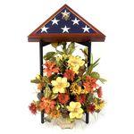 Burial Flag Display Stand Black Wood Finish