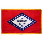 3ft. x 5ft. Arkansas Flag Fringed for Indoor Display