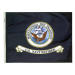 3ft. x 4ft. Navy Flag Retired with Brass Grommets