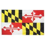 4ft. x 6ft. Maryland Flag w/ Line Snap & Ring