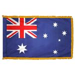 2ft. x 3ft. Australia Flag Fringed for Indoor Display