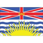 3ft. x 6ft. British Columbia Flag for Parades & Display with Fringe