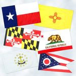 3 x 5 ft. U.S. Territorial Flag Set with Unlined Pole Sleeve