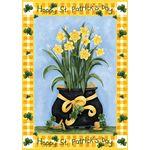 Lucky Daffodils House Flag