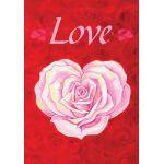 Heart Rose House Flag