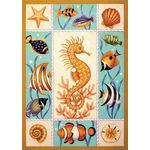 Seahorse & Fish House Flag