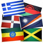 4 ft. x 6 ft. U.N. Member Flag Set For Indoor & Parade