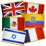 5 ft. x 8 ft. U.N. Member Flag Set For Indoor w/ Fringe