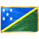 4ft. x 6ft. Solomon Island Flag for Parades & Display with Fringe