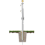 Hurricane Strength External Halyard Aluminum Flagpole