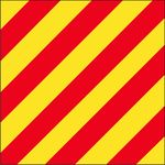 Size 3-1/2 Letter Y Signal Flag with Line Snap and Ring