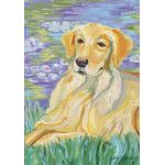 Bonet-Golden Retriever House Flag