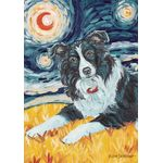 Van Growl-Border Collie House Flag