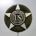 World War I War Veteran Memorial Marker Aluminum