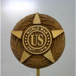 World War I Veteran Memorial Marker Bronze