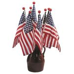 U.S. Flag with Ball Topper-12 Pack
