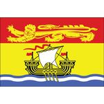3ft. x 6ft. New Brunswick Flag with Brass Grommets