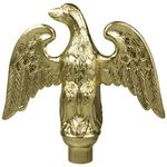 5 in. Metal Perched Eagle Gold