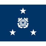 3 Star Coast Guard Admiral Flags