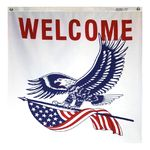 3 x 3 ft. Welcome Eagle Center Panel