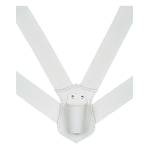 White Web DBL Straps-XL Flagpole Carrier Belt