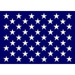 48 Star Union Jack 4ft. 6in. x 6ft. 6in. Rope Header & Metal Thimble