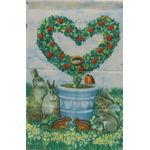 Topiary Heart Decorative House Banner