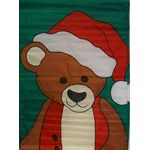 Santa Bear Decorative House Banner