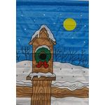 Christmas Birdhouse Decorative House Banner