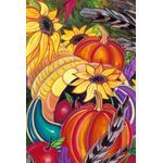 Colorful Cornucopia House Flag