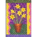Daffodils Growing Garden Flag