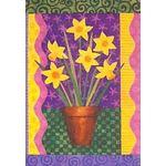 Daffodils Growing Garden Flag