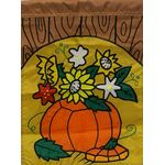 Pumpkins and Flower Garden Flag
