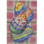 Plaid Easter Eggs Garden Flag