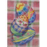Plaid Easter Eggs Garden Flag