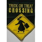 Trick or Treat Crossing Garden Flag