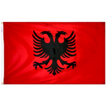 3 ft. x 5 ft. Albania Flag E-poly with Brass Grommets