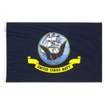 3 ft. x 5 ft. Navy Flag Cotton-Poly